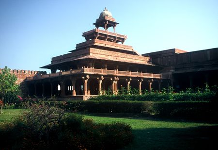 fatehpur: Temple at Fatehpur Sikri in Uttar Paradesh province,India Stock Photo