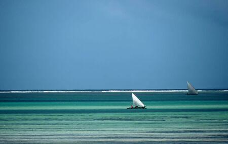 Boats near the beach in Zanzibar,Tanzania