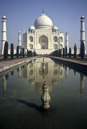Taj Mahal in the Morning in Uttar Paradesh Province,India