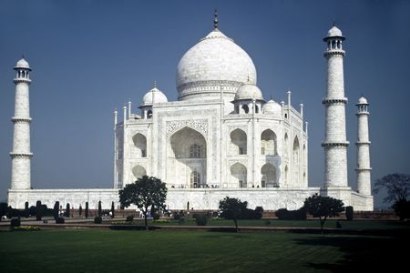 Taj Mahal in the Morning in Uttar Paradesh Province,India
