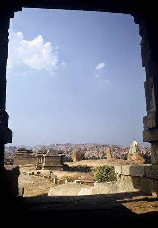 karnataka: Templo de Hampi, provincia de Karnataka, India