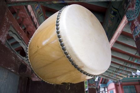 relict: Drum in a confucian academy near Andong,South korea