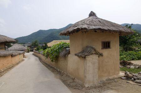 folk village: Part of the Hahoe Folk village in South korea