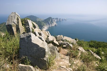 Coastline of the Yeonhwa island in the south sea of Korea Stock Photo - 5751741