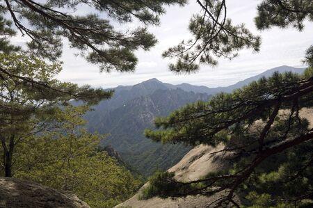 Landscape in Seoraksan National Park,South Korea Stock Photo