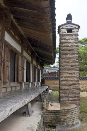 folk village: Part of the Hahoe Folk village in Southkorea