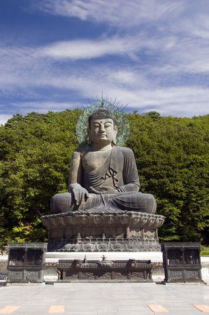 Sitting Buddha in Seoraksan National Park, South Korea photo