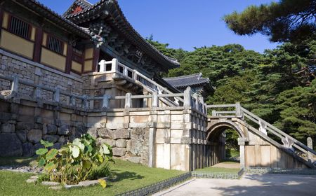 Entrance to the Bulguksa Temple in South Korea