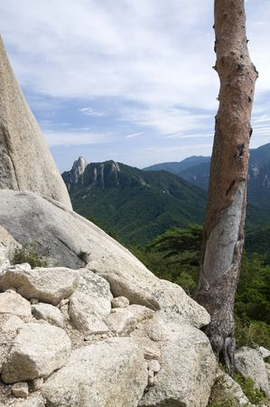Landscape in Seoraksan National Park,South Korea photo