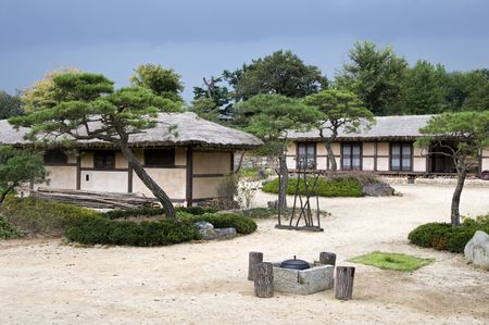 Part of the Hahoe Folk village in South Korea
