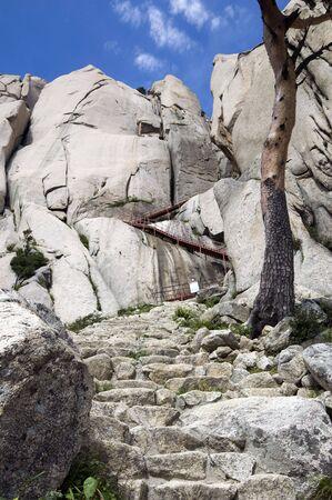 Steep Path in Seoraksan National Park,South Korea photo