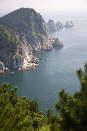 Coastline of the Yeonhwa island in the south sea of Korea photo