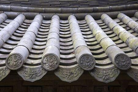 Detail of a Traditional Roof in South Korea