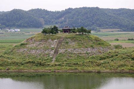 Pavilion on a hill near Andong, South Korea