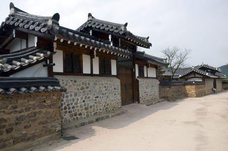 Part of the Hahoe Folk village in South Korea
