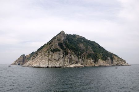 A small island in the south see of Korea Stock Photo