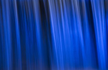 Detail of an Illuminated Waterfall in Seoul Stock Photo