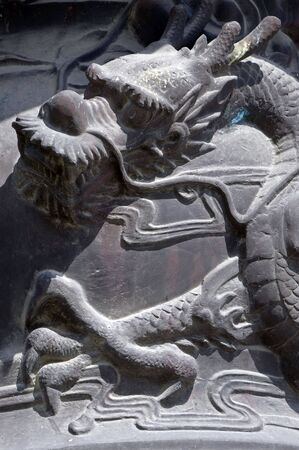 Detail of a dragon in South Korea photo