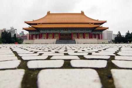 An empty square in Taipei, Taiwan
