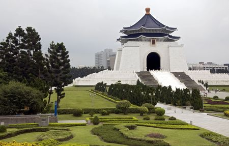 house gable: Chiang kai-shek memorial hall in downtown Taipei, Taiwan Editorial