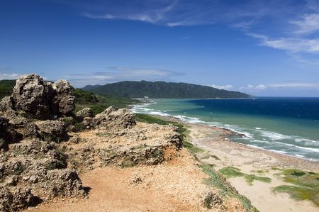kenting: Coastline in the Kenting National Park, Taiwan Stock Photo