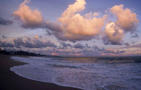 Sunset on the beach of Tangalla, Sri Lanka
