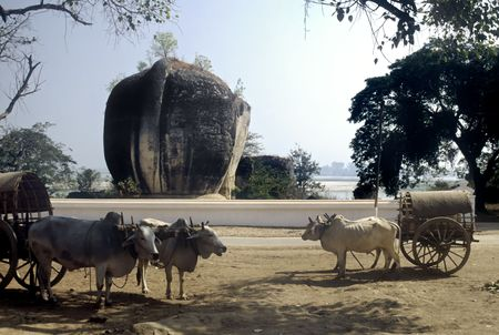 Huge Elephant statue at Mingun near Mandalay, Myanmar Stock Photo