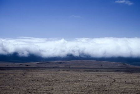 Clouds rolling into the Ngorongoro crater, Tanzania photo