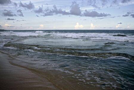 Sunset at the beach of Tangalla, Sri Lanka Stock Photo