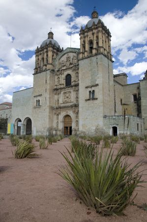 Cathedral in Oaxaca city, Mexico Stock Photo