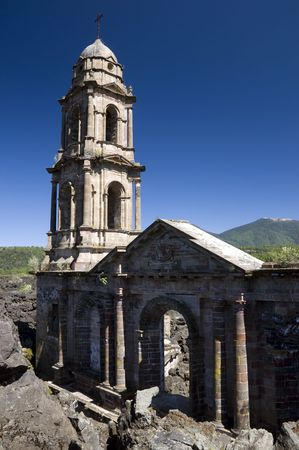 Buried Church near Uruapan in Mexico photo