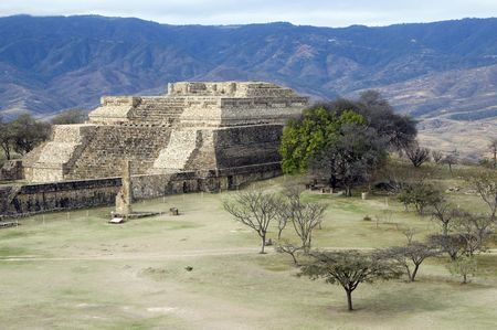 View over tha ancient capital of Monte Alban, Mexico Stock Photo - 6561431