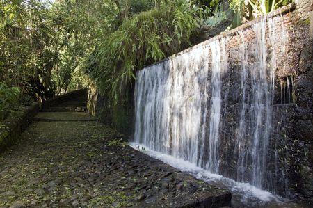Artificial waterfall in the Barranca del Cupititzio national park , Mexico photo