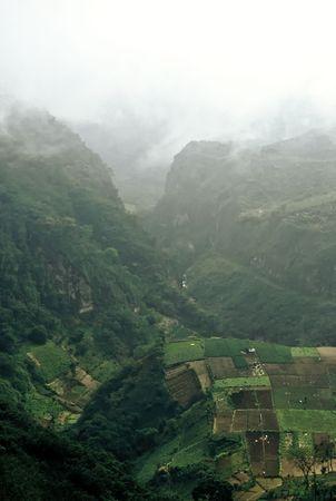 View into a deep mountain valley, Guatemala