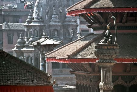 opulent: Detail of a Pagoda, Nepal Stock Photo