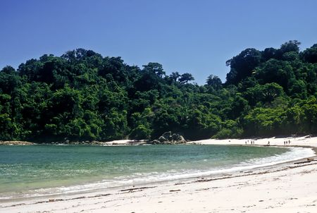 Tropical beach in the Manuel Antonio national park, Costa Rica Stock Photo