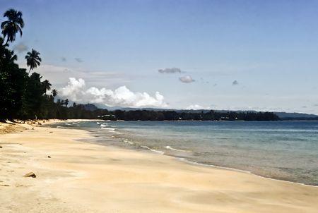 Deserted golden Beach on the caribbean coast, Costa Rica Stock Photo - 7220966