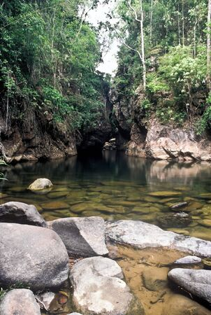 Jungle river in the Khao Sok national Park, Thailand Stock Photo - 7857106