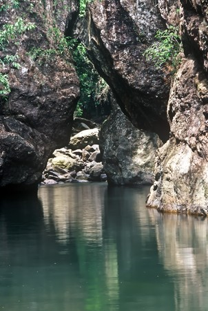 River gorge in the Khao Sok national Park, Thailand Stock Photo - 7857102