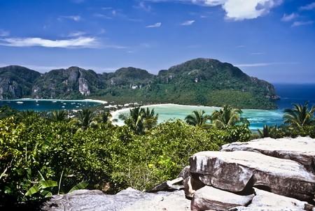 View over Ko Phi Phi Don before the Tsunami, Thailand