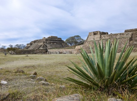 Partb of the temple complex of Monte Alban, Mexico