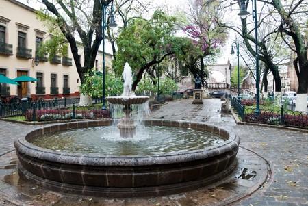 Fountain in the historic city of Morelia, Mexico