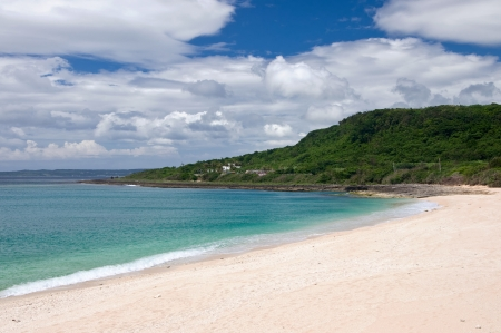 Deserted beach in the Kenting national park, Taiwan photo