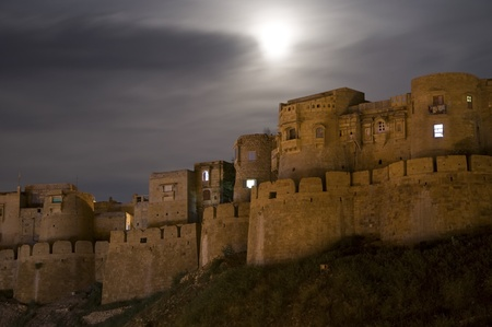 Jaisalmer Fort at night in Rajasthan, India photo