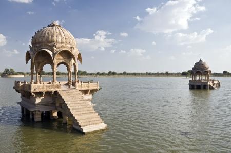 Gadi Sagar near the historic town of Jaisalmer, India photo