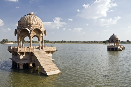 Gadi Sagar near the historic town of Jaisalmer, India