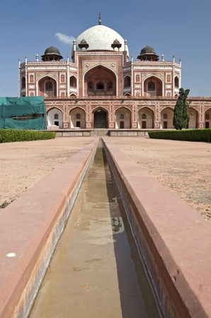 new delhi: Part of the Humayun`s Tomb in New Delhi, India