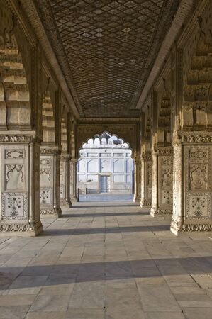 Colonnade in the Red Fort in New Delhi, India photo