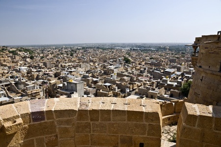 View over the ancient city of Jaisalmer, India photo
