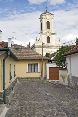 Small Street in in old part of Szentendre, Hungary photo